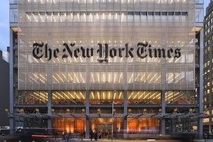 Building with the words The New York Times on it