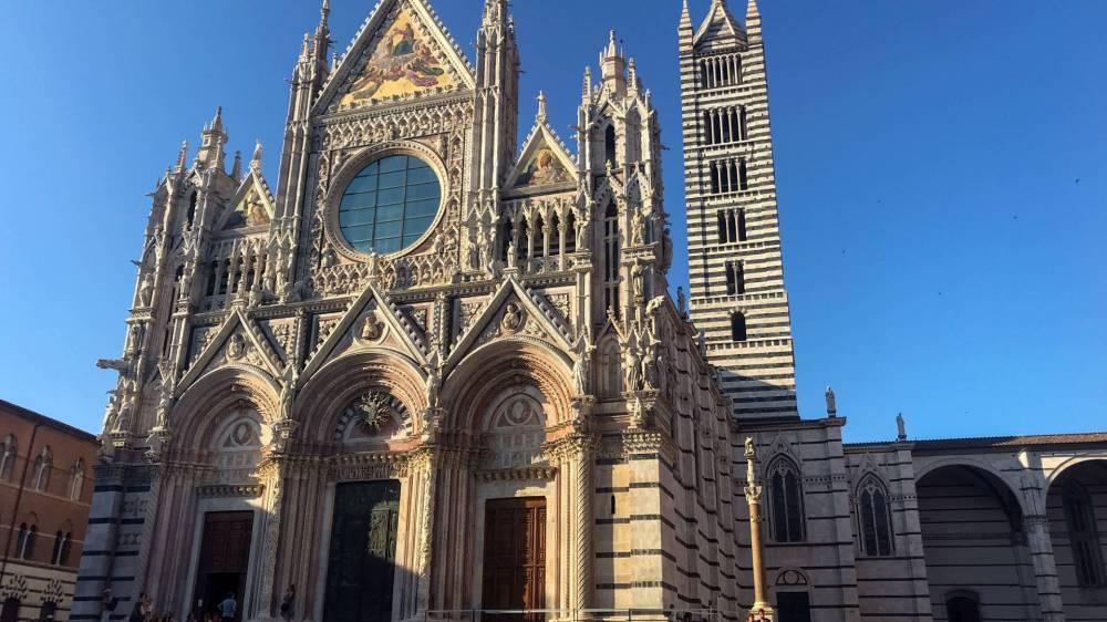 Medieval church facade