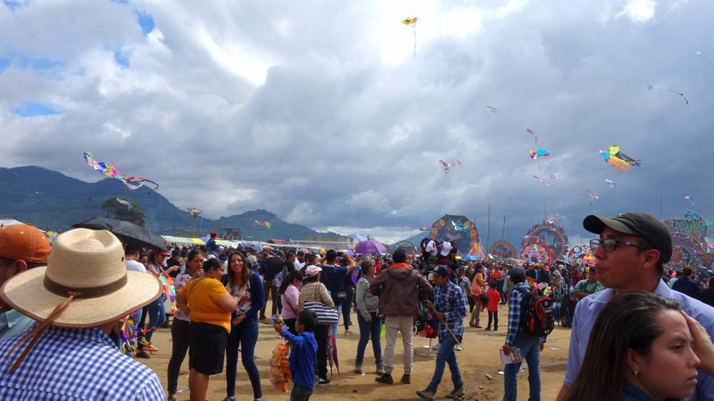At the Kite Festival in Sumpango