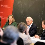 """Former Ambassador Victoria (""""Toria"""") Nuland speaks during an event with Ambassador of France to the United States Philippe Etienne moderated by Nicholas Burns."""