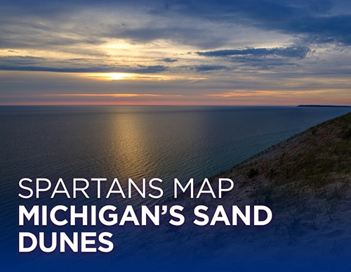 Spartans map Michigan's sand dunes