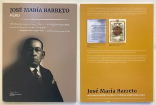 José María Barreto, the consul general of Peru in Switzerland during World War II, is one of 15 diplomats recognized as Righteous Among the Nations and spotlighted in the Rayzor Hall exhibition.