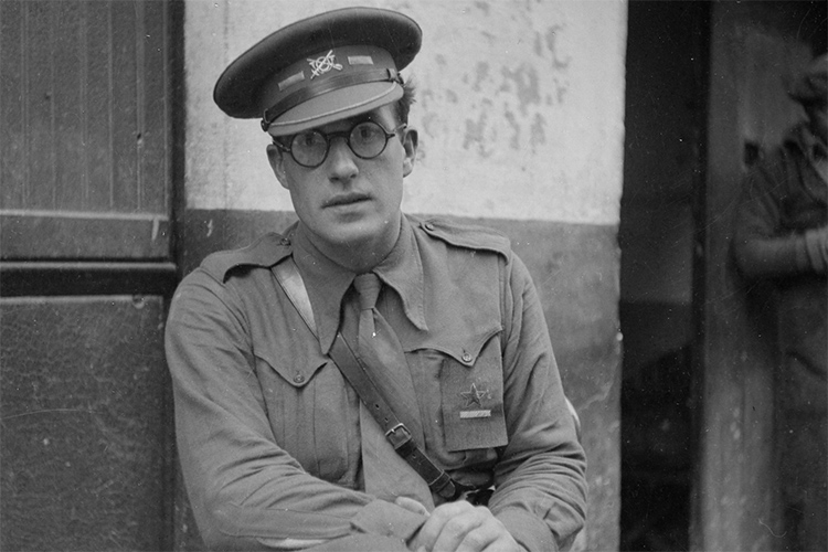 Robert Hale Merriman, a major in the XV International Brigade in the Spanish Civil War.