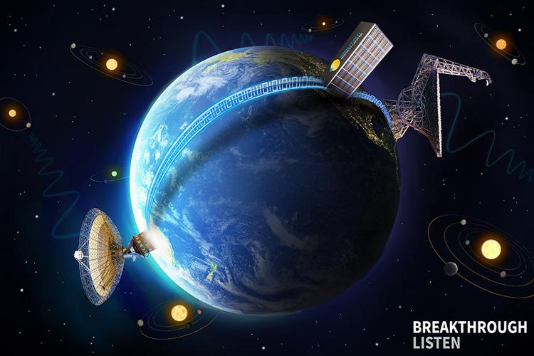 Breakthrough Listen graphic of Earth