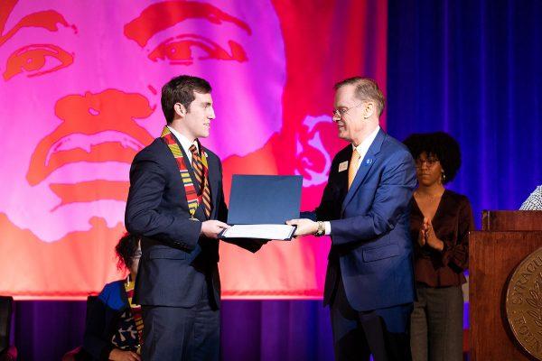 Jack Ramza reecives Unsung Hero Award