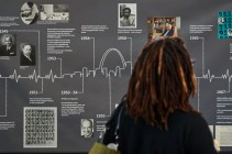 A timeline detailing the history of segregation at the School of Medicine prompted many discussions at the 2020 Day of Dialogue & Action at the Eric P. Newman Education Center Feb. 18. (Photo: Matt Miller/School of Medicine)