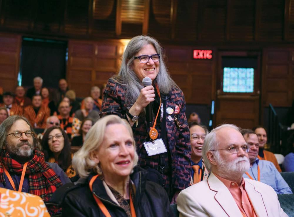 Sally Frank asks Romero a question