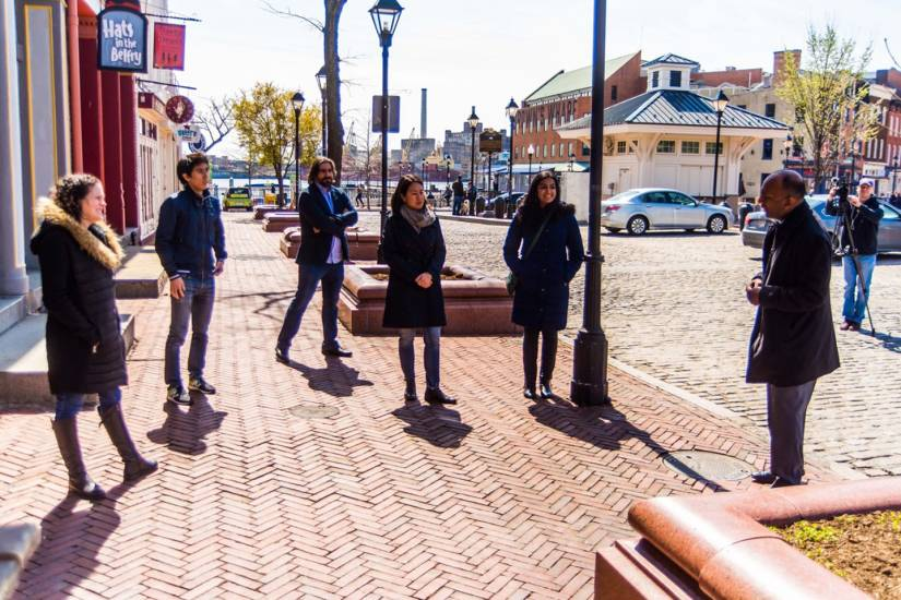 Carey students were featured on the news to discuss Stand by Baltimore, a website they created where users can purchase gift cards online to help support local restaurants and businesses during the COVID-19 pandemic.