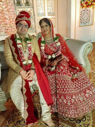 Newlyweds Nitant Gupta and Megha Sharma Gupta got married in India and back to Houston just in the nick of time.