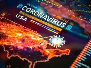 Digital impage of US map amid coronavirus