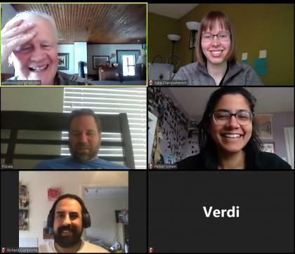 Zoom meeting during the CBID hackathon