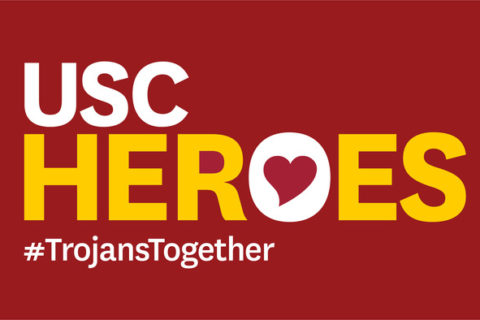 USC Heroes logo #TrojansTogether
