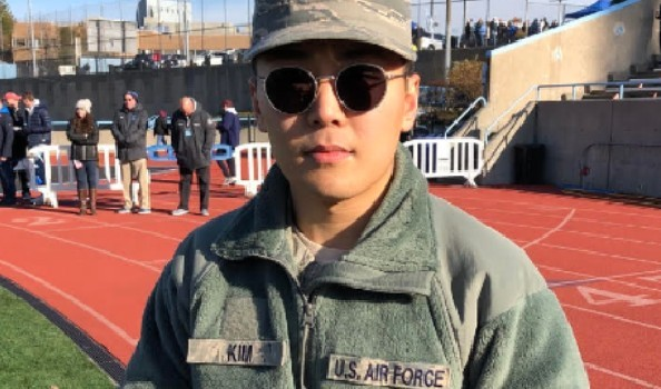 Asian man in sunglasses and U.S. Air Force uniform