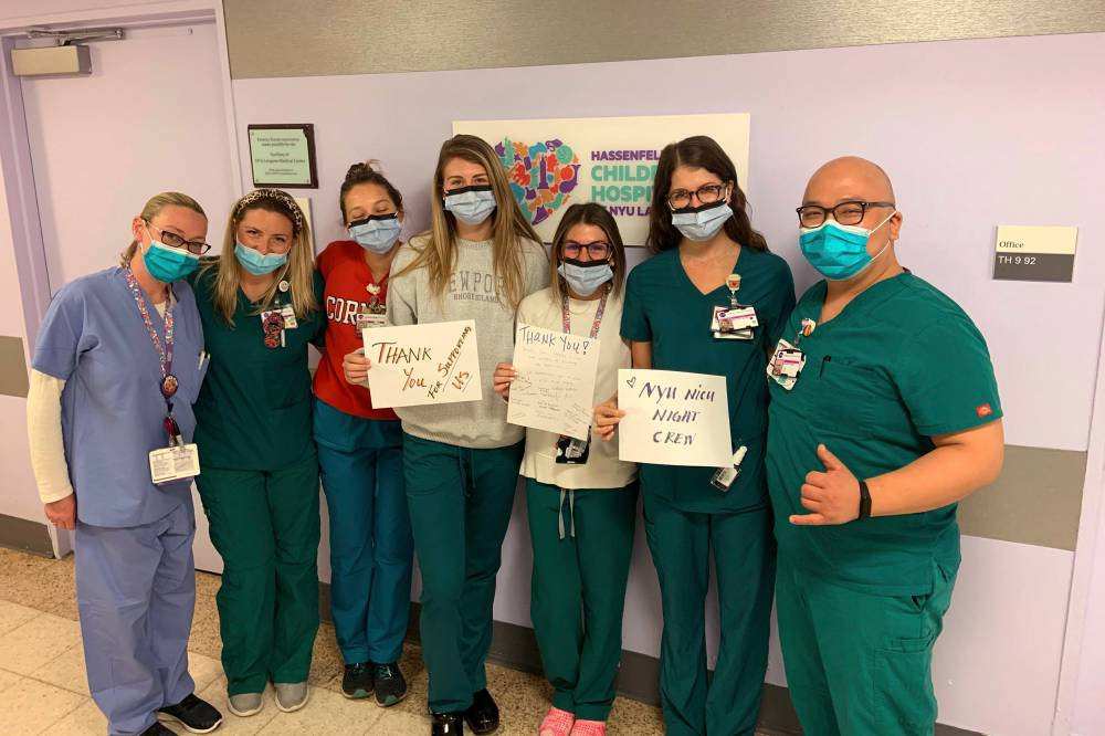 Night crew at hospital.