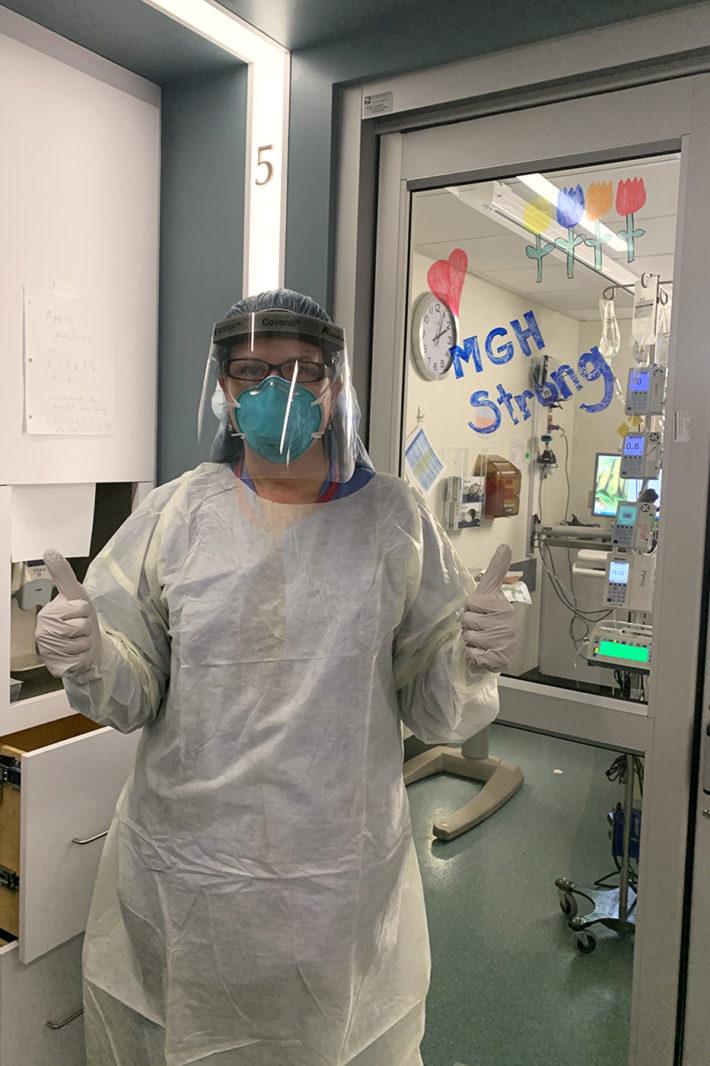 Picture of Maria van Pelt at the ICU