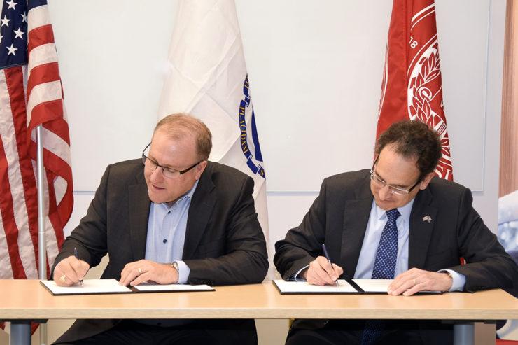 Picture of signing of memorandum of understanding