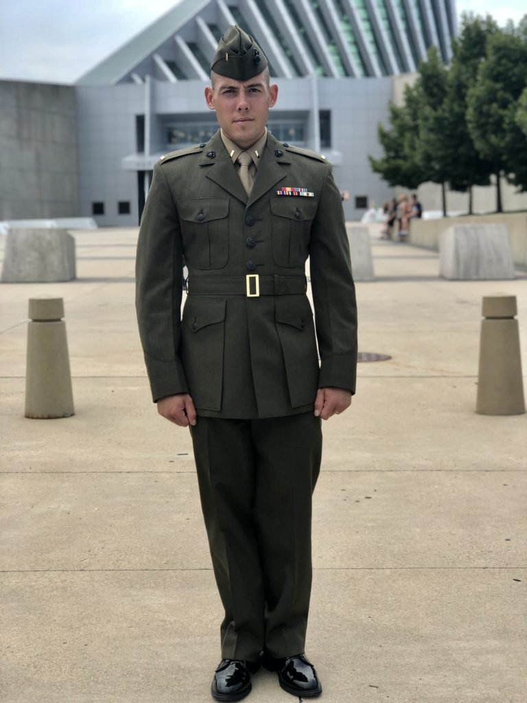 Man in Marines uniform