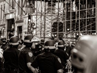 Police Officers at New York protests