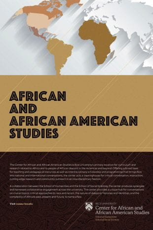 The Center for African and African American Studies (CAAAS) will be introduced Oct. 16 with a reception in the Humanities courtyard from 5:30-7:30 p.m.