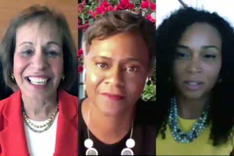 USC Juneteenth celebration: Carol Folt, Felicia Washington and Camille Rich