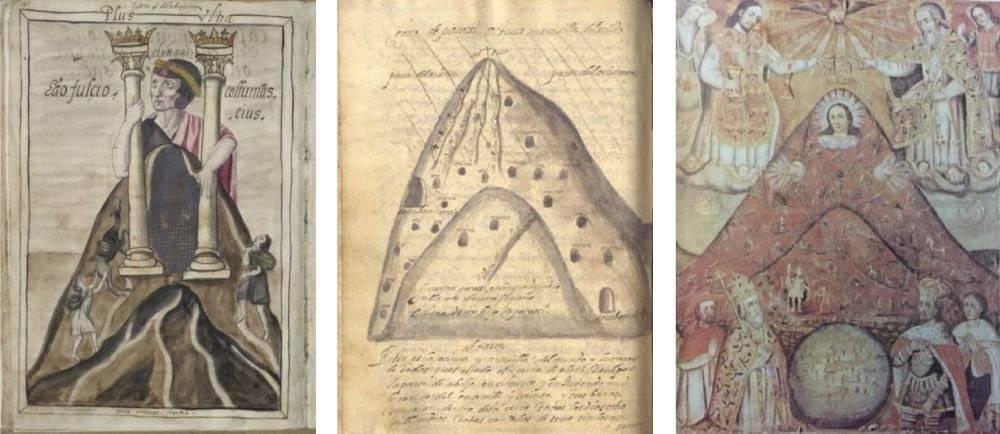 triptich of archival images
