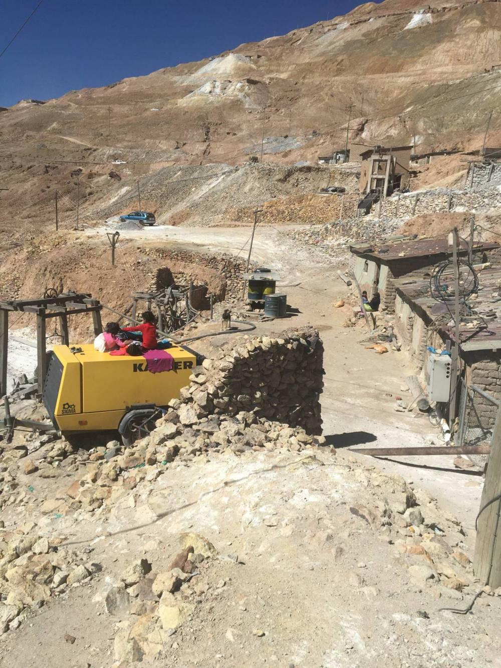 landscape around a mine