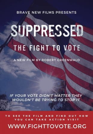 """Suppressed 2020: The Fight to Vote,"" a documentary short film about voter suppression in the 2018 midterm election in Georgia, will be screened virtually Oct. 2, 3 and 4."
