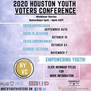 The Houston Youth Voters Conference aims to increase civic education and uplift marginalized communities as a united youth front.