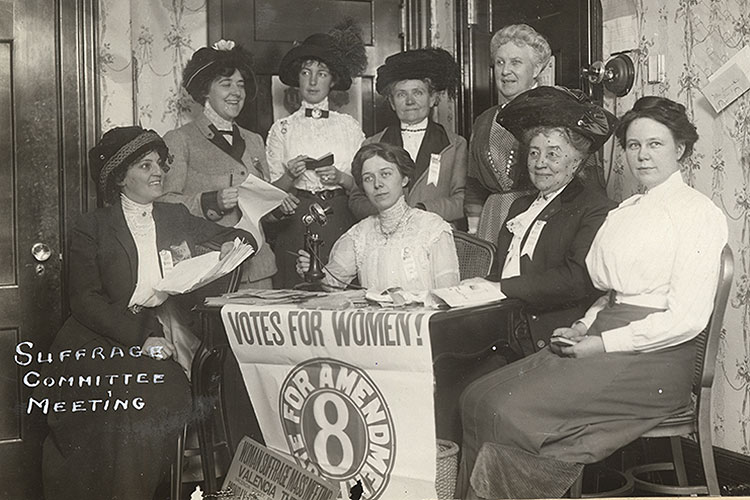 A women's suffrage committee met in San Francisco, apparently in 1911
