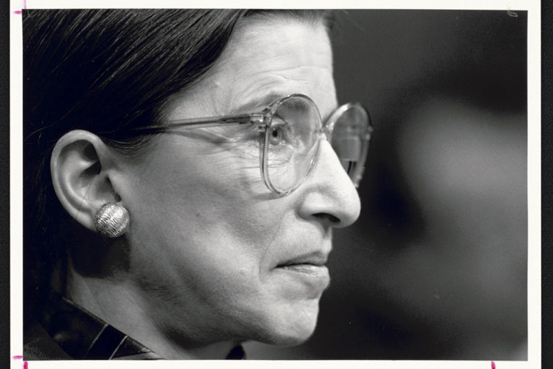 Before she was a Supreme Court Justice, Ruth Bader Ginsburg taught law in a clinical program at Columbia Law School. Photo by Michael Jenkins/Library of Congress