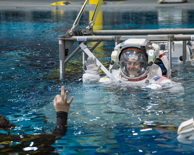Image of Meir during her astronaut training