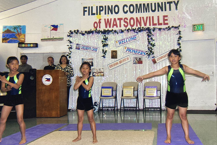 Cortez as a child doing gymnastics for a crowd