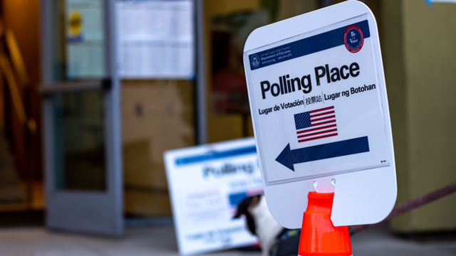 polling place signage