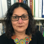informal portrait of Laura Elisa Pérez, chair of the Latinx Research Center, coordinator of the Chicano Studies program and professor of ethnic studies