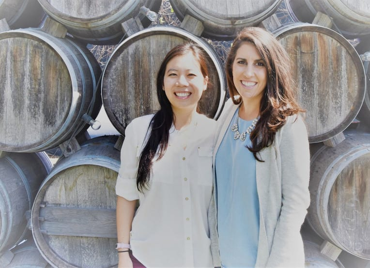 Kim Long (left) and Samantha Penabad founded GivingFund