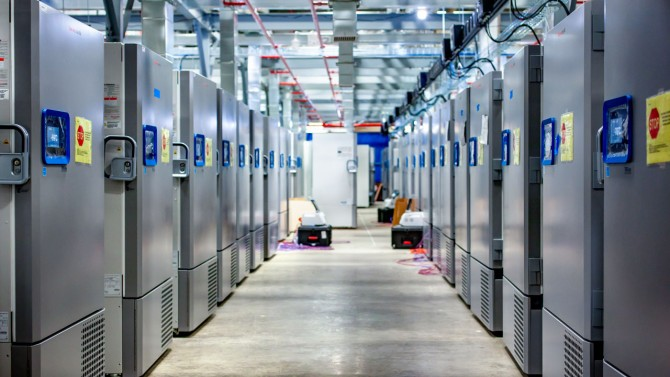 COVID-19 vaccine is stored in freezers