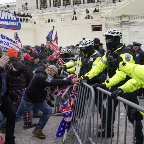 Trump rally protesters at the Capitol.